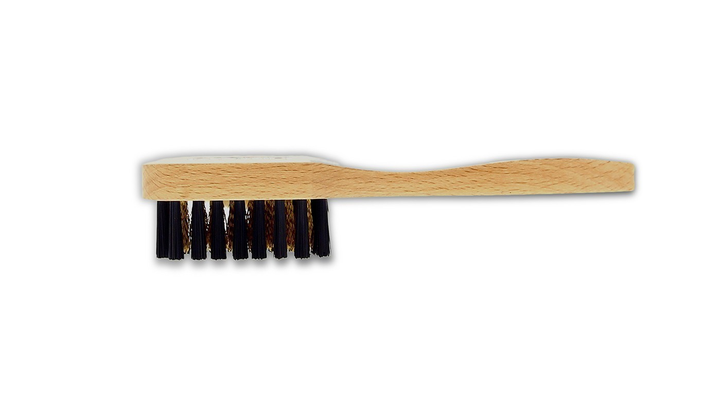 Brass brush for suede