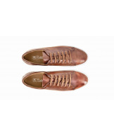 men sneakers cognac patina calf