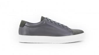 men sneakers grey calf and nubuck