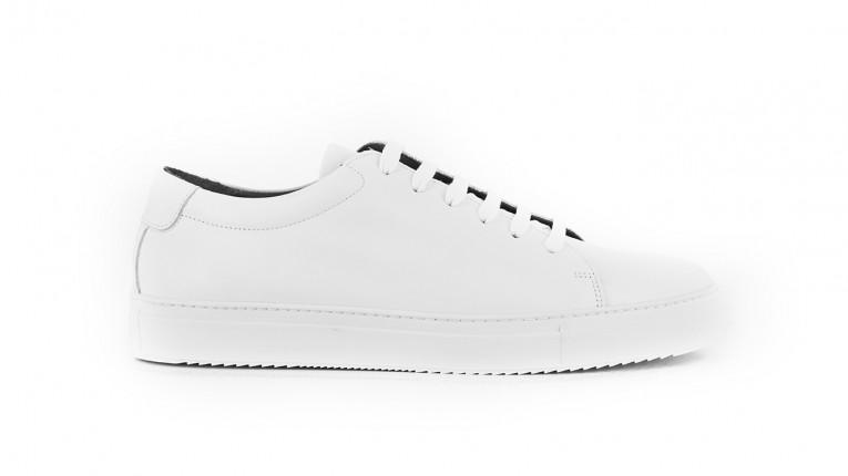 men sneakers white monochrome and calf