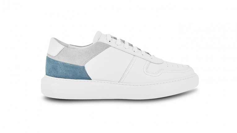 men sneakers white and blue trilogy