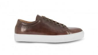 men sneakers brown patina and calf