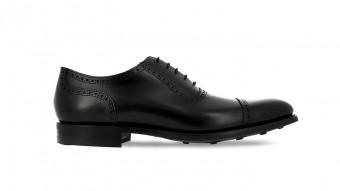 men formal shoes black rubber sole lancaster