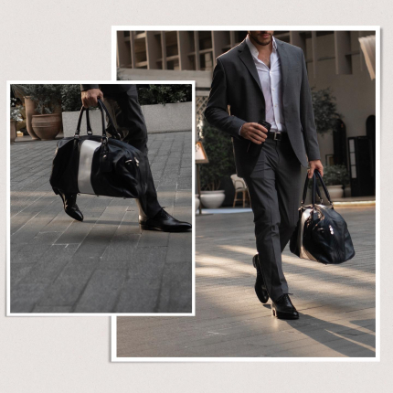 From office to meetings to Gym in style.  Featuring our Black Oxford model St. James – Timeless, classic while indispensable. Perfect with grey or black suits.  #sartorial #oxfordshoes #goodyearwelted #gentlemen #shoemaker #shoesformen